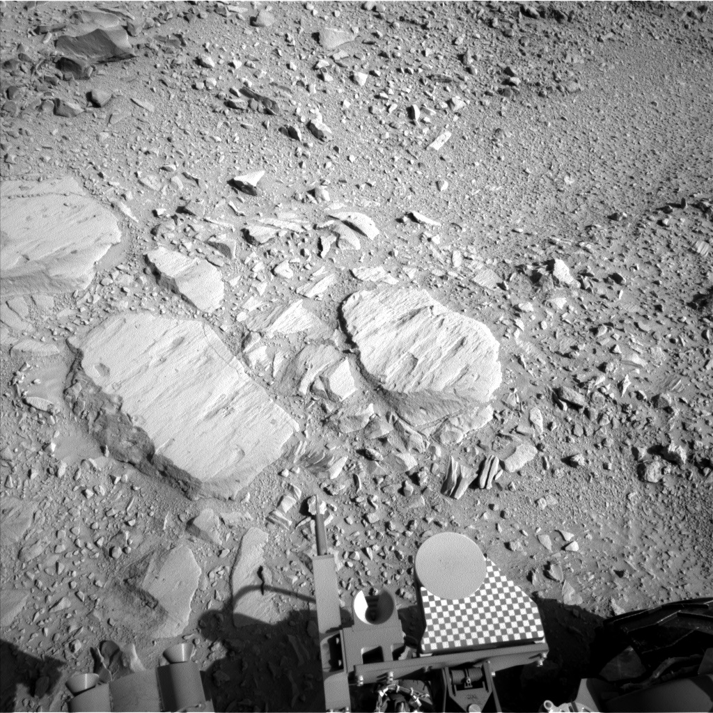 Nasa's Mars rover Curiosity acquired this image using its Left Navigation Camera on Sol 485, at drive 366, site number 24