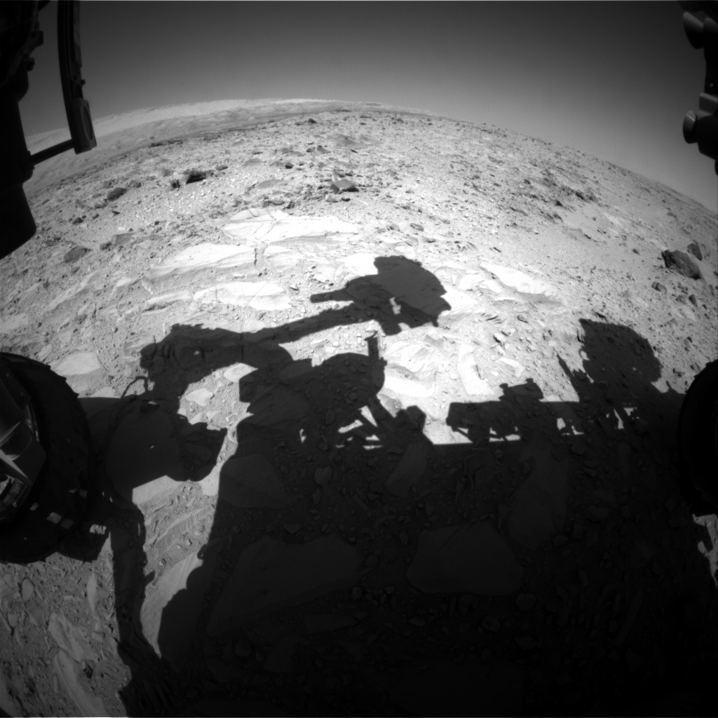 NASA's Mars rover Curiosity acquired this image using its Front Hazard Avoidance Cameras (Front Hazcams) on Sol 486