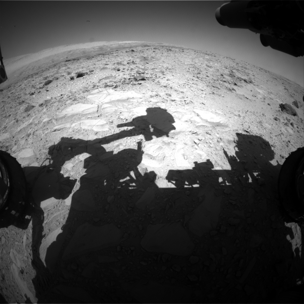 Nasa's Mars rover Curiosity acquired this image using its Front Hazard Avoidance Camera (Front Hazcam) on Sol 486, at drive 366, site number 24