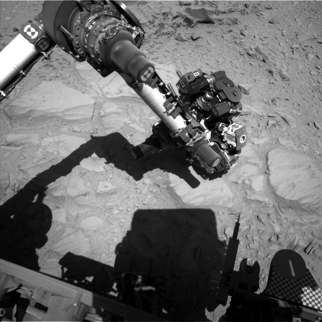 NASA's Mars rover Curiosity acquired this image using its Left Navigation Camera (Navcams) on Sol 486