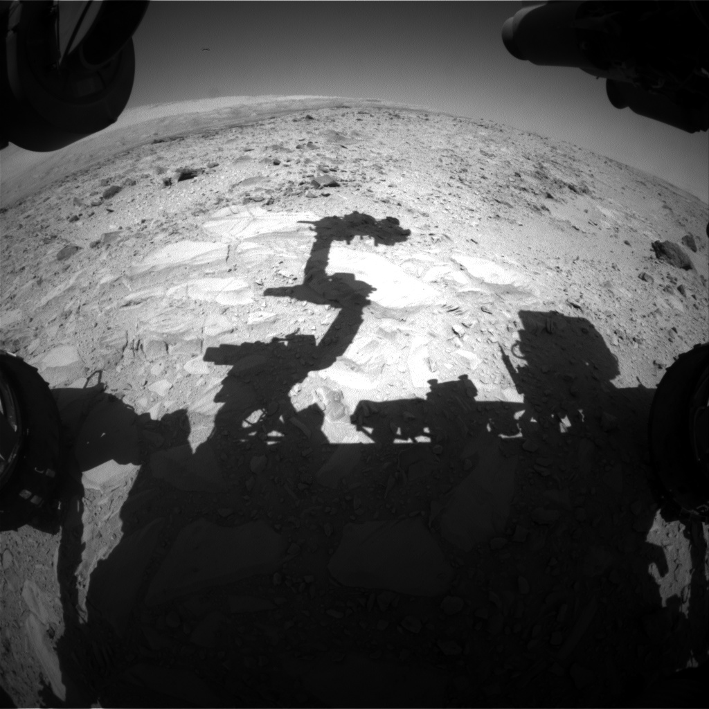 Nasa's Mars rover Curiosity acquired this image using its Front Hazard Avoidance Camera (Front Hazcam) on Sol 487, at drive 366, site number 24