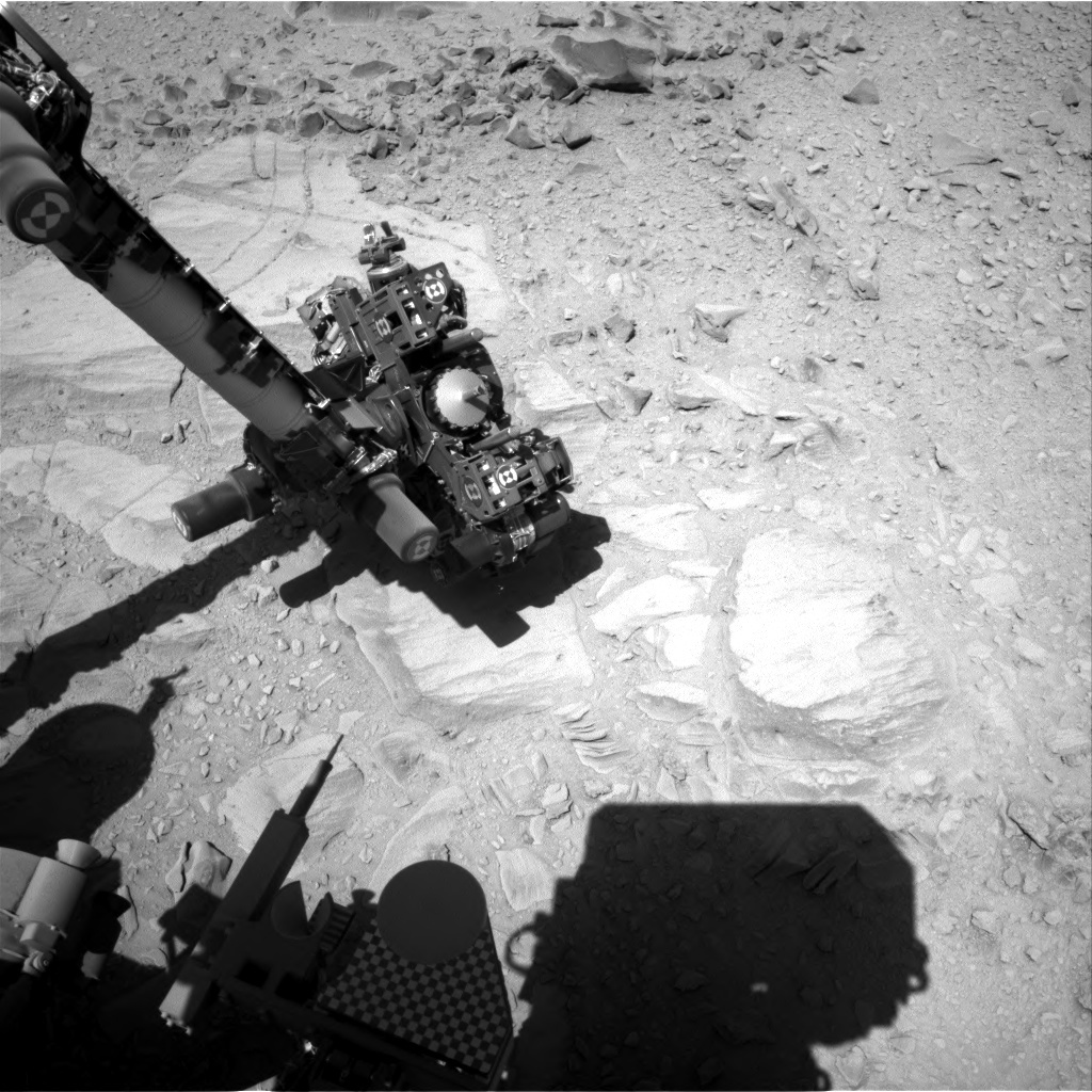 NASA's Mars rover Curiosity acquired this image using its Right Navigation Cameras (Navcams) on Sol 487