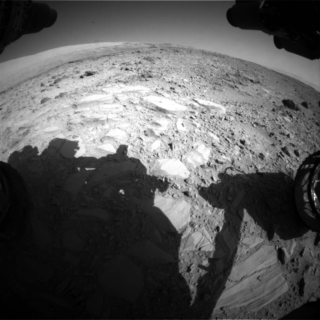 Nasa's Mars rover Curiosity acquired this image using its Front Hazard Avoidance Camera (Front Hazcam) on Sol 488, at drive 378, site number 24