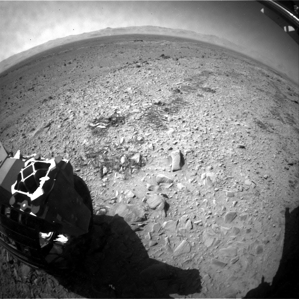 NASA's Mars rover Curiosity acquired this image using its Rear Hazard Avoidance Cameras (Rear Hazcams) on Sol 488