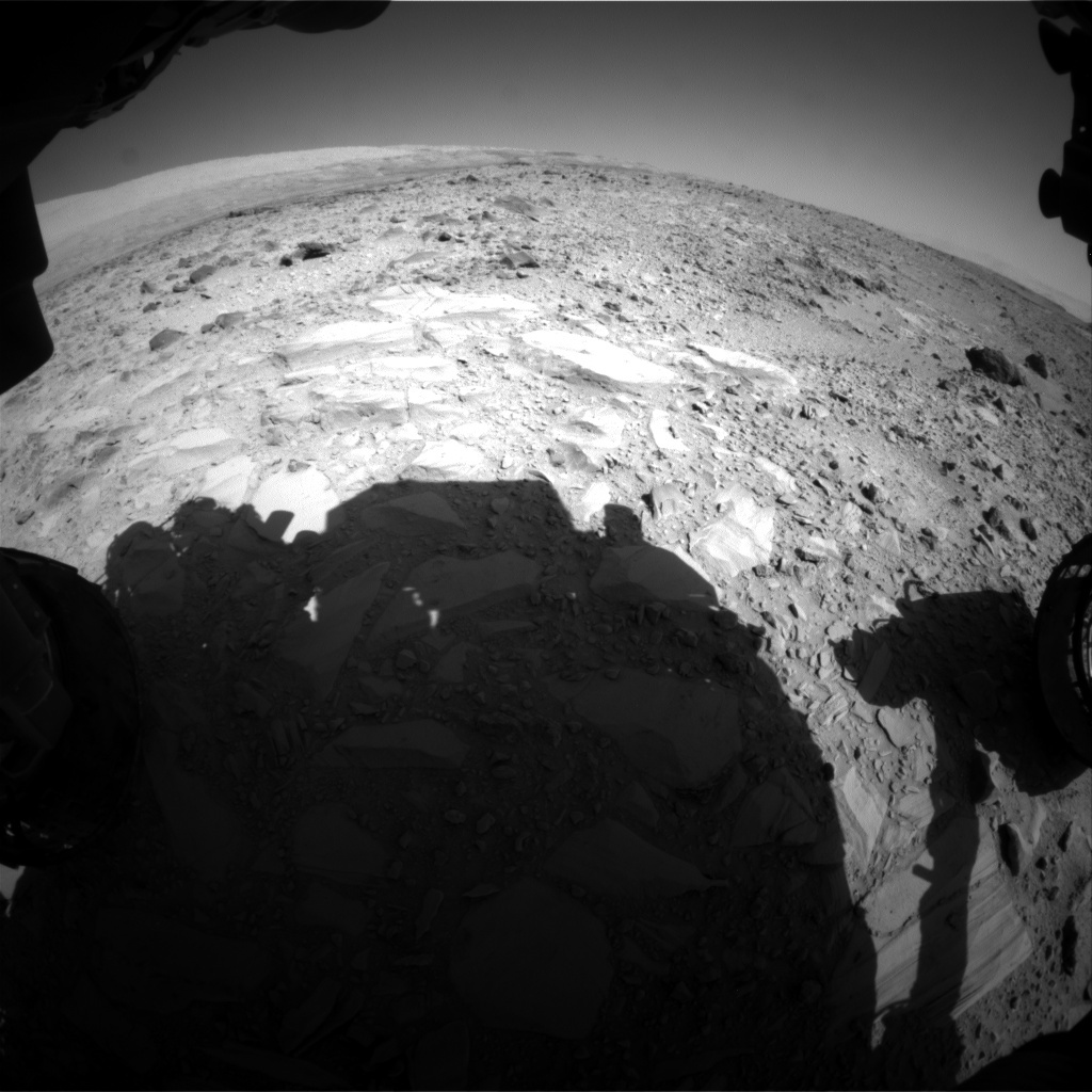 NASA's Mars rover Curiosity acquired this image using its Front Hazard Avoidance Cameras (Front Hazcams) on Sol 489