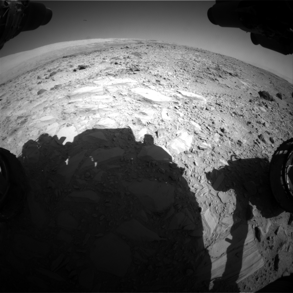 Nasa's Mars rover Curiosity acquired this image using its Front Hazard Avoidance Camera (Front Hazcam) on Sol 489, at drive 378, site number 24