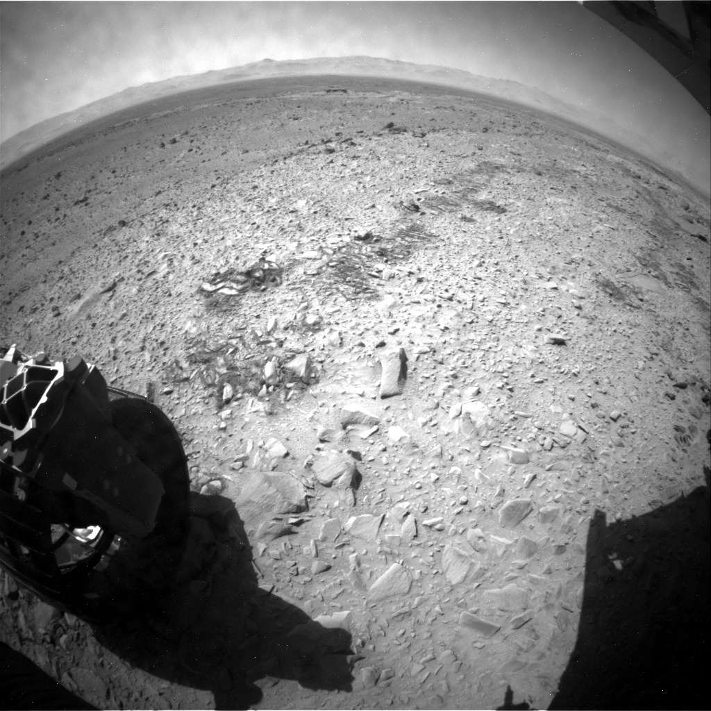 NASA's Mars rover Curiosity acquired this image using its Rear Hazard Avoidance Cameras (Rear Hazcams) on Sol 489