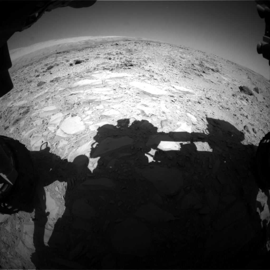 Nasa's Mars rover Curiosity acquired this image using its Front Hazard Avoidance Camera (Front Hazcam) on Sol 490, at drive 378, site number 24