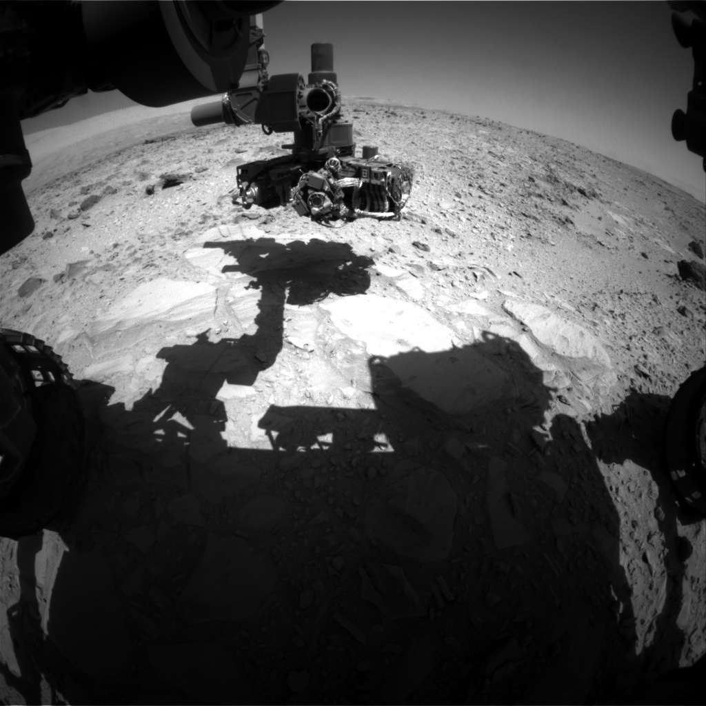 Nasa's Mars rover Curiosity acquired this image using its Front Hazard Avoidance Camera (Front Hazcam) on Sol 490, at drive 402, site number 24