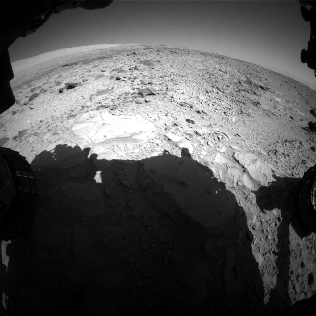 Nasa's Mars rover Curiosity acquired this image using its Front Hazard Avoidance Camera (Front Hazcam) on Sol 490, at drive 408, site number 24