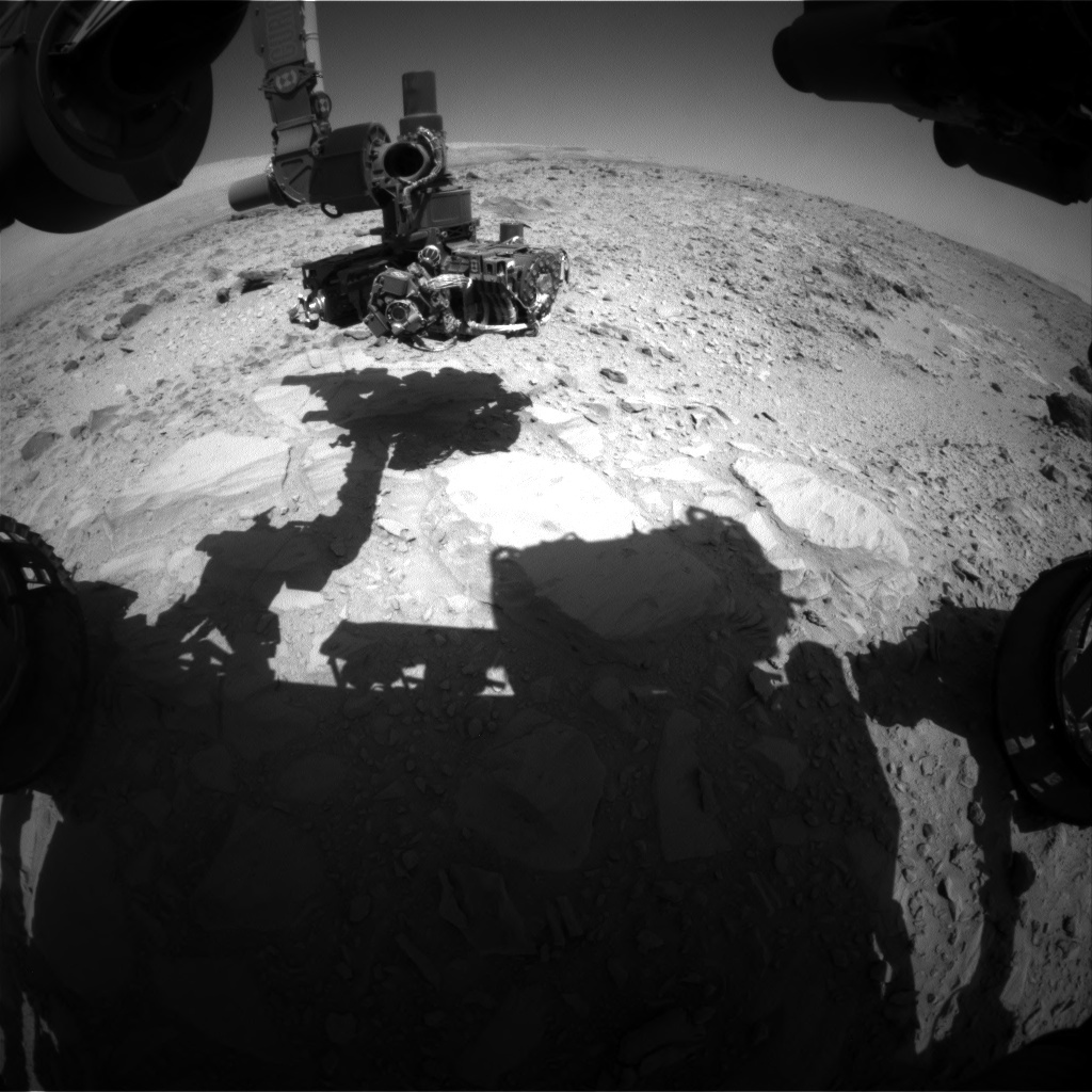 NASA's Mars rover Curiosity acquired this image using its Front Hazard Avoidance Cameras (Front Hazcams) on Sol 490