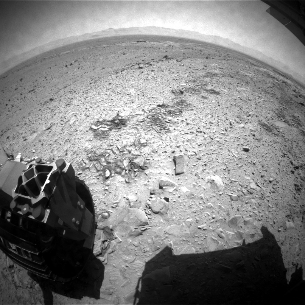 NASA's Mars rover Curiosity acquired this image using its Rear Hazard Avoidance Cameras (Rear Hazcams) on Sol 490