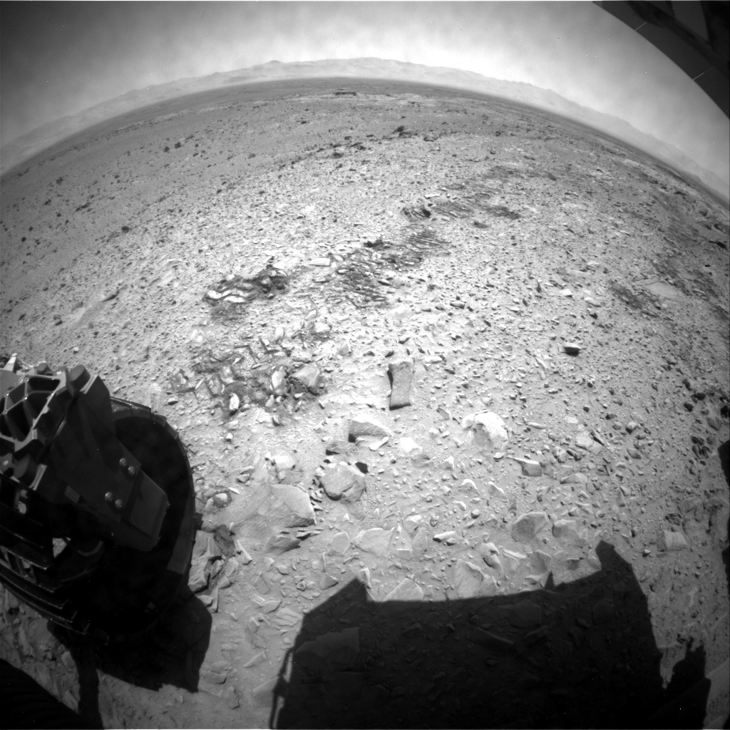 MSL Raw Image from Rear Hazard Avoidance Cameras (Rear Hazcams)