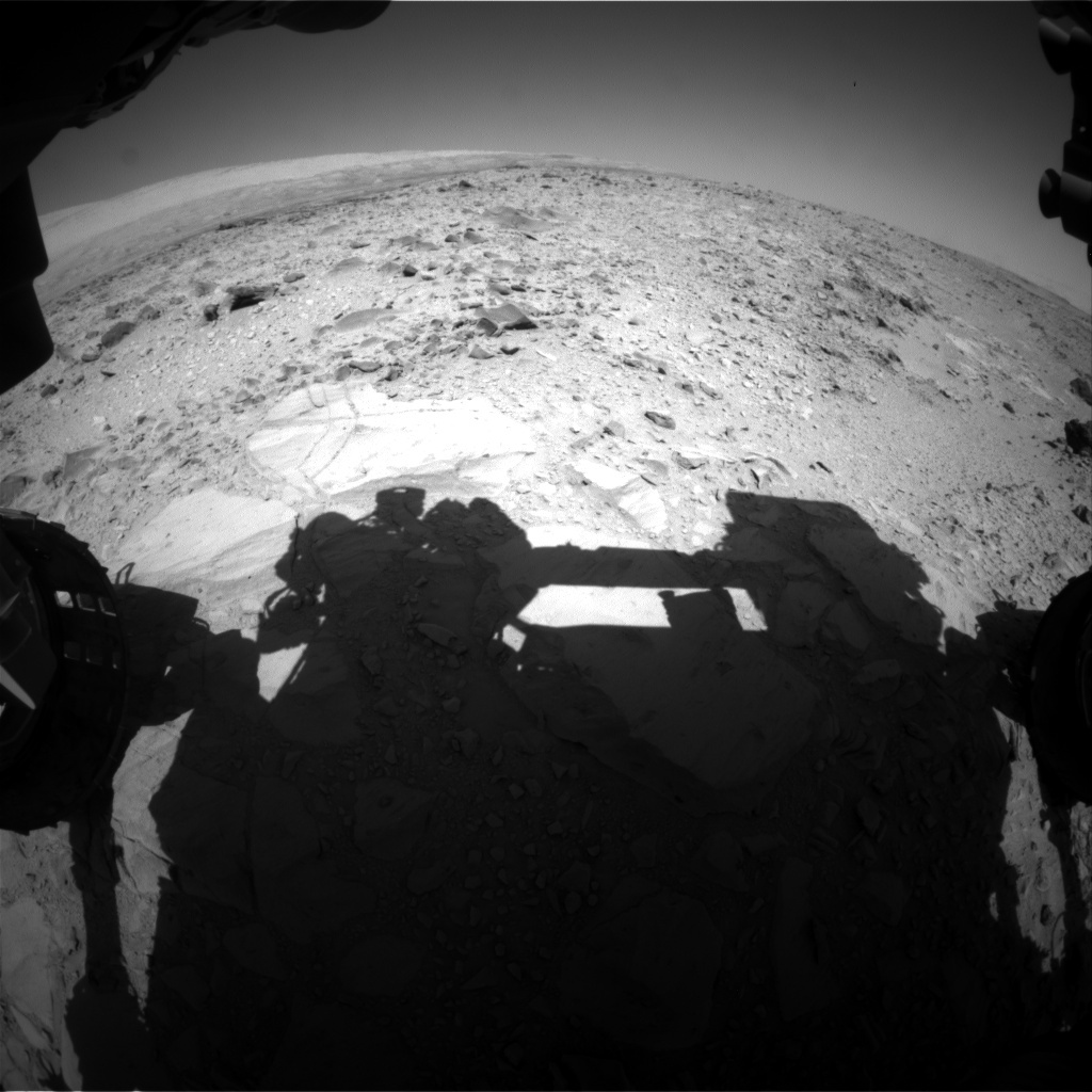 NASA's Mars rover Curiosity acquired this image using its Front Hazard Avoidance Cameras (Front Hazcams) on Sol 491