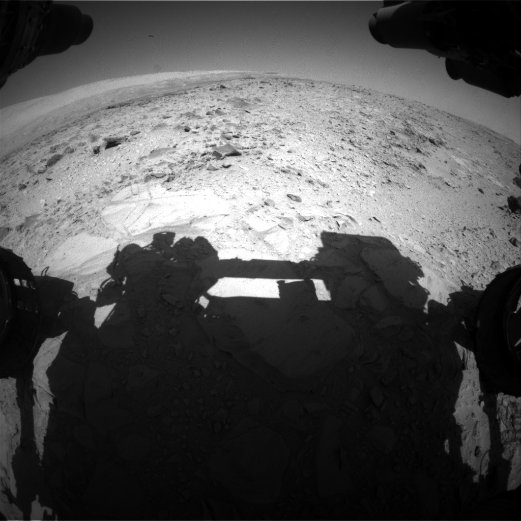 Nasa's Mars rover Curiosity acquired this image using its Front Hazard Avoidance Camera (Front Hazcam) on Sol 491, at drive 408, site number 24