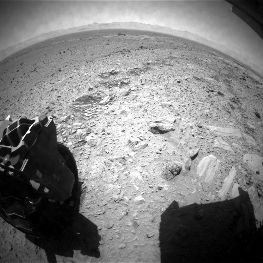 NASA's Mars rover Curiosity acquired this image using its Rear Hazard Avoidance Cameras (Rear Hazcams) on Sol 491