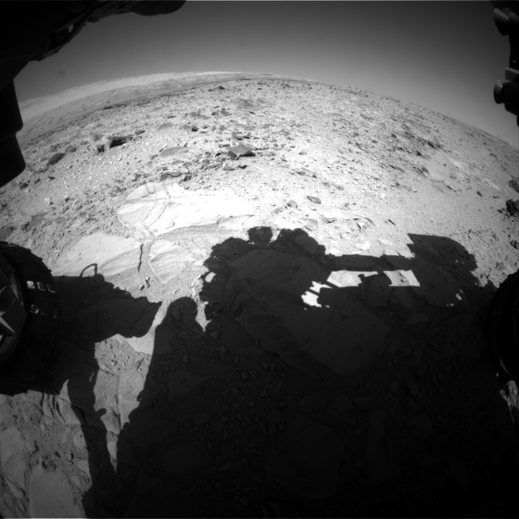 NASA's Mars rover Curiosity acquired this image using its Front Hazard Avoidance Cameras (Front Hazcams) on Sol 492