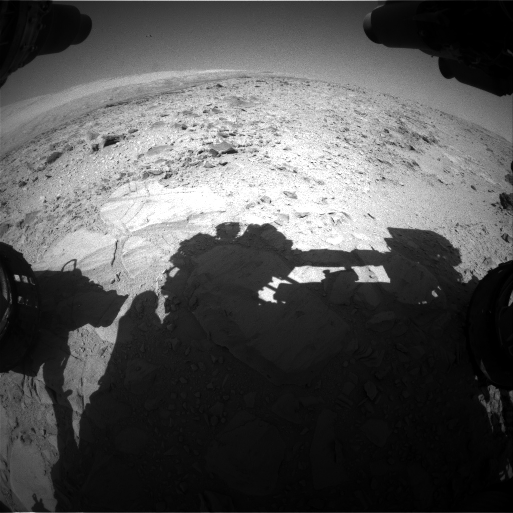 Nasa's Mars rover Curiosity acquired this image using its Front Hazard Avoidance Camera (Front Hazcam) on Sol 492, at drive 408, site number 24
