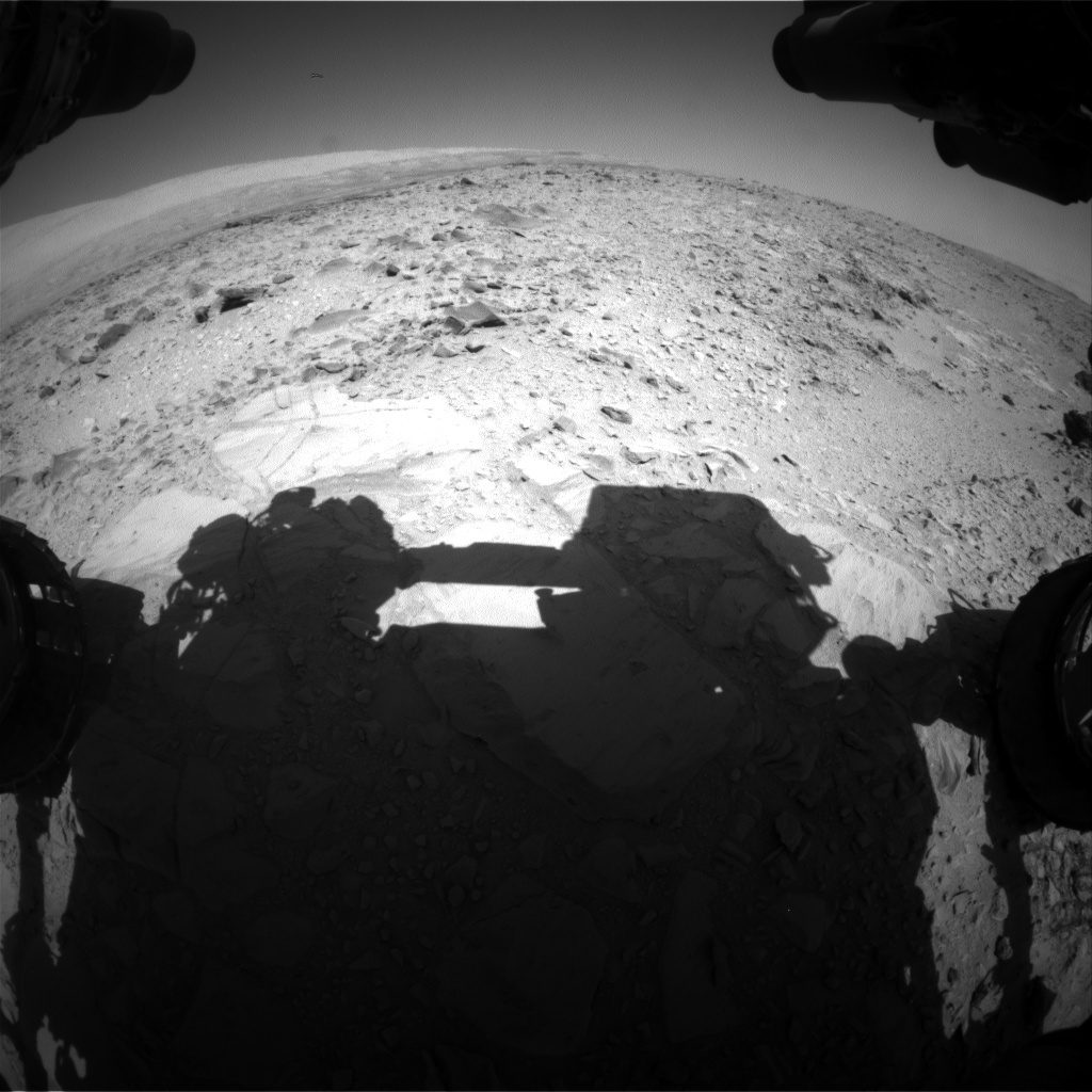 NASA's Mars rover Curiosity acquired this image using its Front Hazard Avoidance Cameras (Front Hazcams) on Sol 493