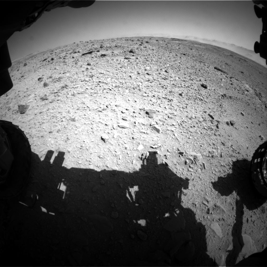Nasa's Mars rover Curiosity acquired this image using its Front Hazard Avoidance Camera (Front Hazcam) on Sol 494, at drive 528, site number 24