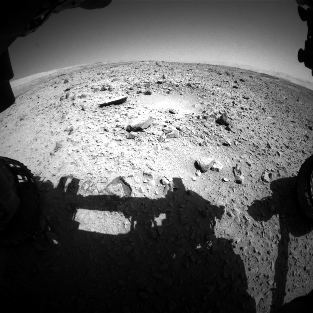 Nasa's Mars rover Curiosity acquired this image using its Front Hazard Avoidance Camera (Front Hazcam) on Sol 494, at drive 0, site number 25