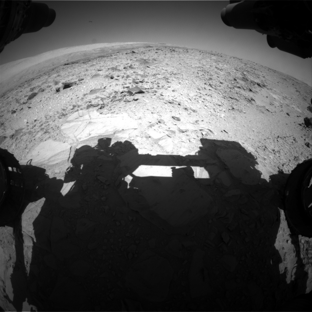 NASA's Mars rover Curiosity acquired this image using its Front Hazard Avoidance Cameras (Front Hazcams) on Sol 494