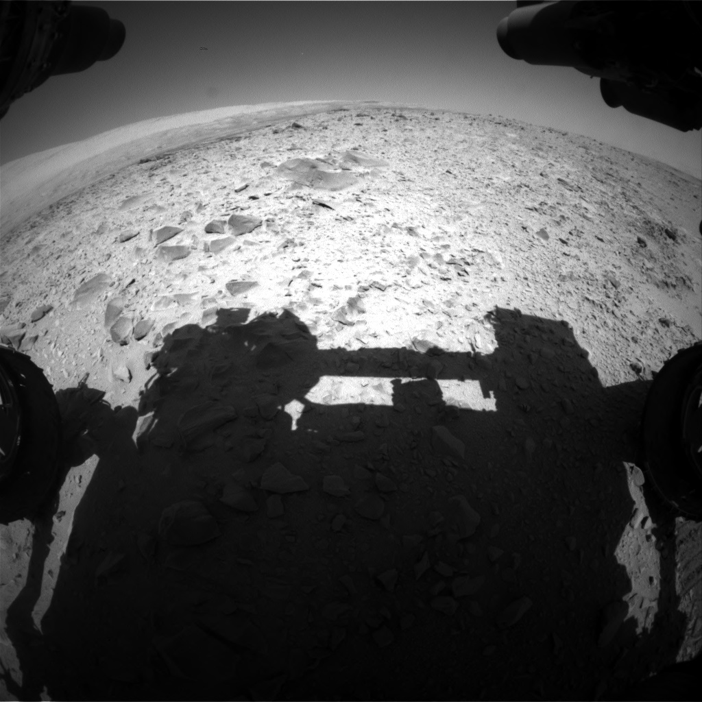 Nasa's Mars rover Curiosity acquired this image using its Front Hazard Avoidance Camera (Front Hazcam) on Sol 494, at drive 426, site number 24