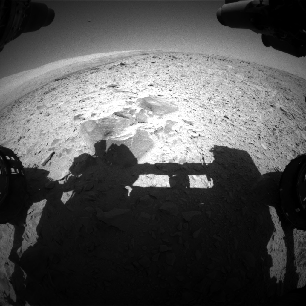 Nasa's Mars rover Curiosity acquired this image using its Front Hazard Avoidance Camera (Front Hazcam) on Sol 494, at drive 438, site number 24