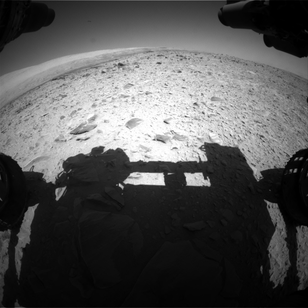 Nasa's Mars rover Curiosity acquired this image using its Front Hazard Avoidance Camera (Front Hazcam) on Sol 494, at drive 456, site number 24