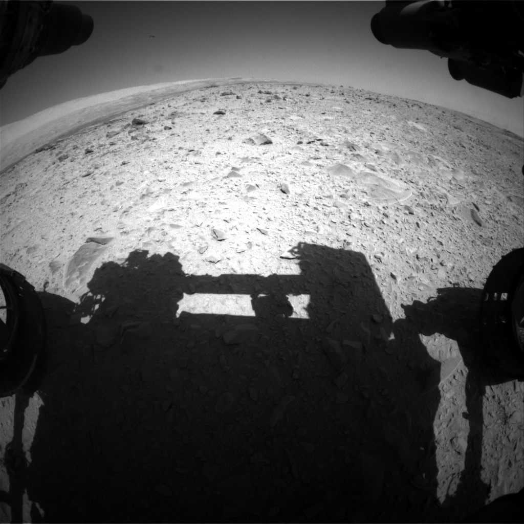 Nasa's Mars rover Curiosity acquired this image using its Front Hazard Avoidance Camera (Front Hazcam) on Sol 494, at drive 468, site number 24