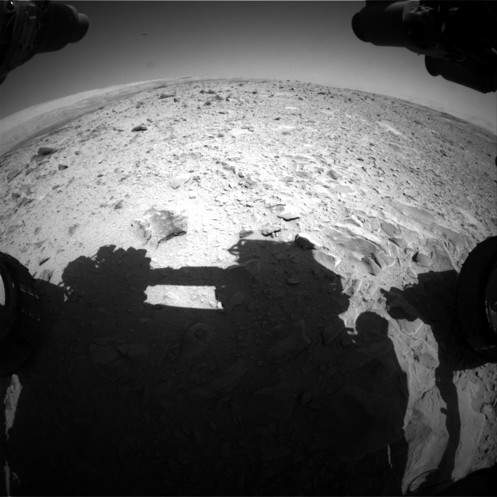 Nasa's Mars rover Curiosity acquired this image using its Front Hazard Avoidance Camera (Front Hazcam) on Sol 494, at drive 480, site number 24