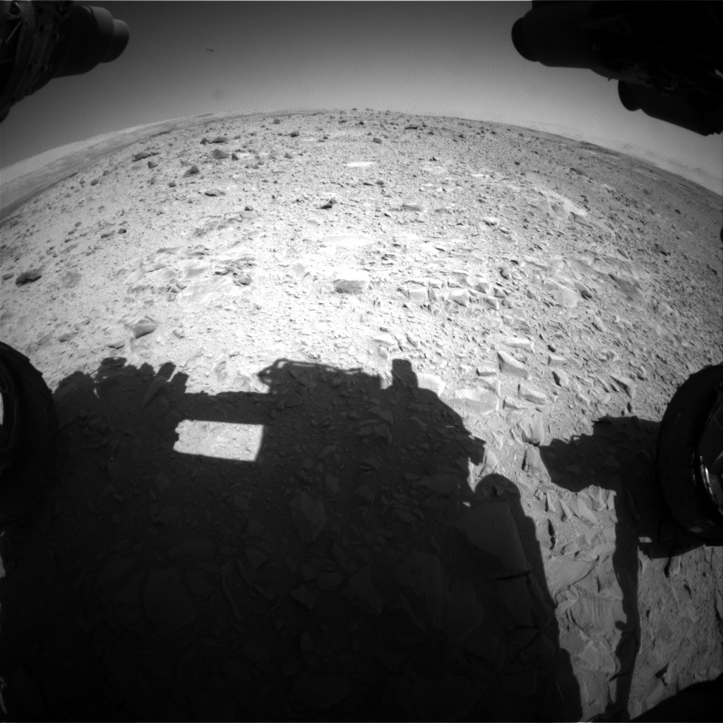 Nasa's Mars rover Curiosity acquired this image using its Front Hazard Avoidance Camera (Front Hazcam) on Sol 494, at drive 492, site number 24