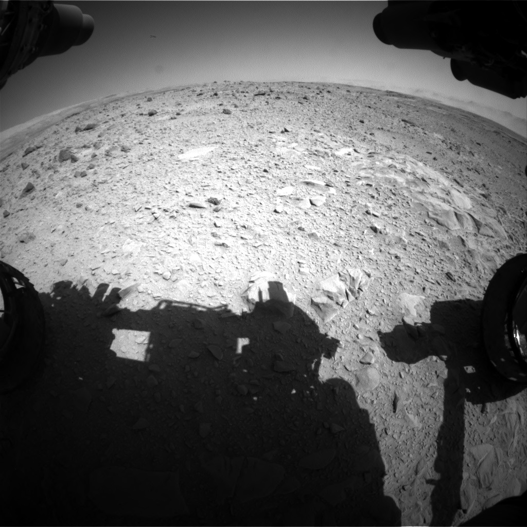 Nasa's Mars rover Curiosity acquired this image using its Front Hazard Avoidance Camera (Front Hazcam) on Sol 494, at drive 504, site number 24
