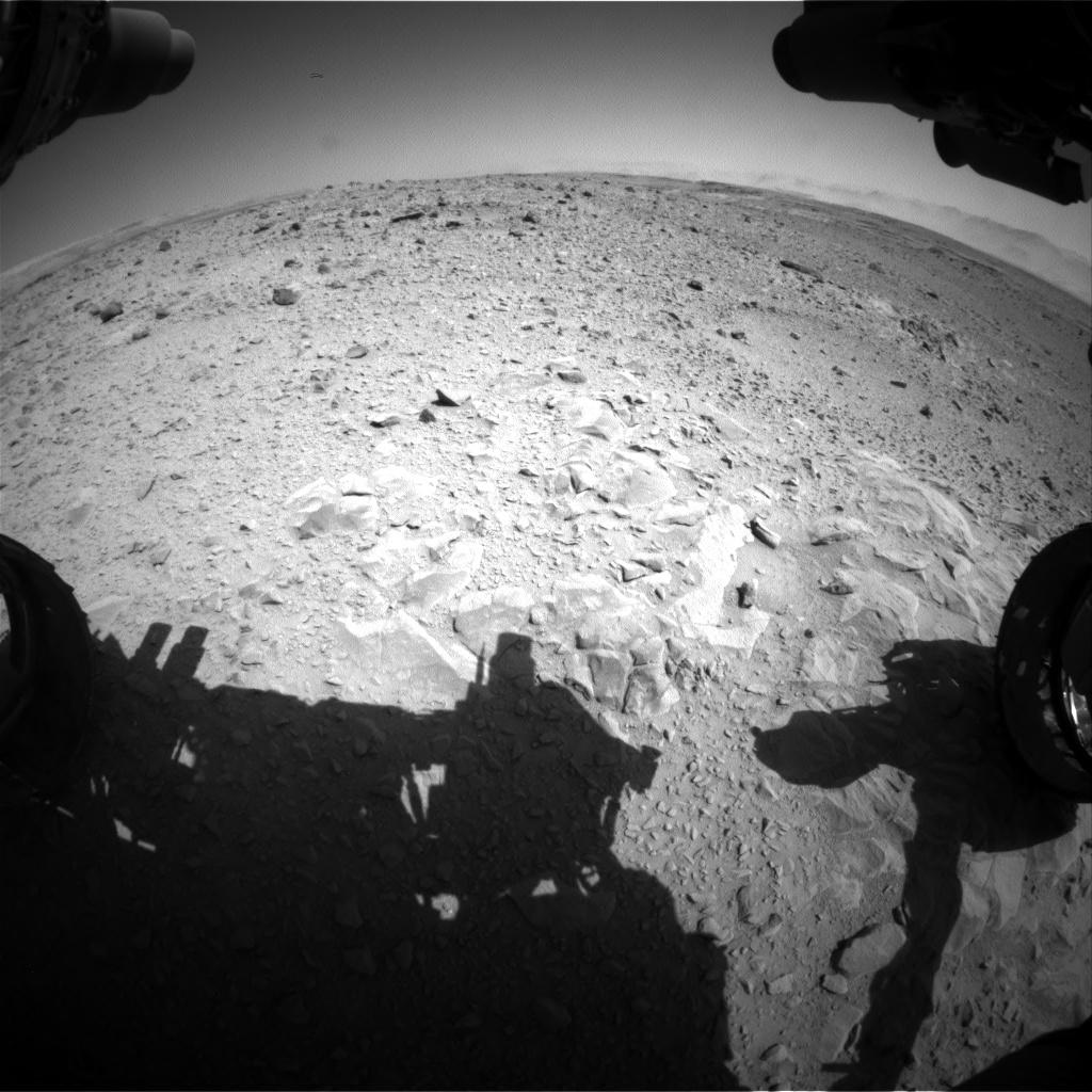Nasa's Mars rover Curiosity acquired this image using its Front Hazard Avoidance Camera (Front Hazcam) on Sol 494, at drive 516, site number 24