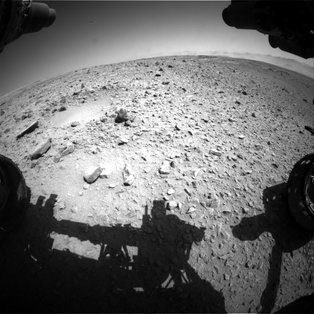 Nasa's Mars rover Curiosity acquired this image using its Front Hazard Avoidance Camera (Front Hazcam) on Sol 494, at drive 552, site number 24