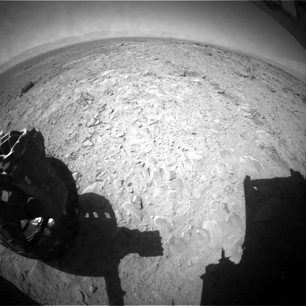 NASA's Mars rover Curiosity acquired this image using its Rear Hazard Avoidance Cameras (Rear Hazcams) on Sol 494