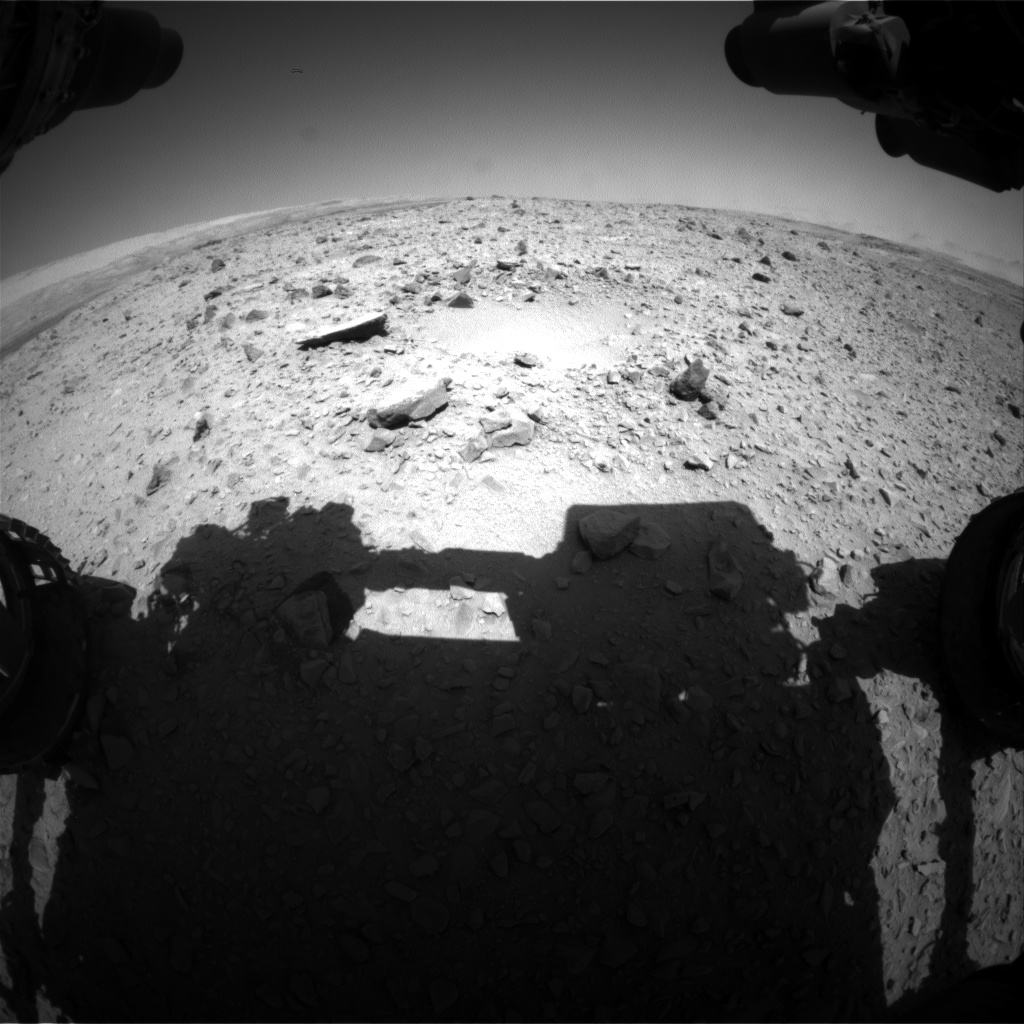Nasa's Mars rover Curiosity acquired this image using its Front Hazard Avoidance Camera (Front Hazcam) on Sol 502, at drive 0, site number 25
