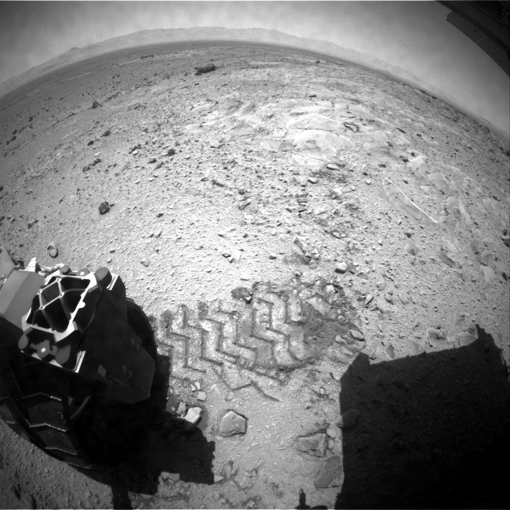 NASA's Mars rover Curiosity acquired this image using its Rear Hazard Avoidance Cameras (Rear Hazcams) on Sol 502