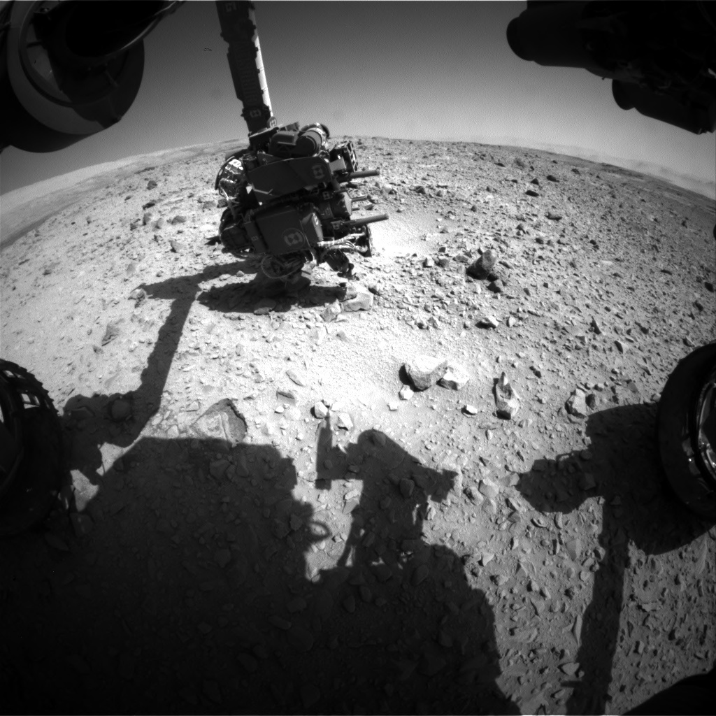 NASA's Mars rover Curiosity acquired this image using its Front Hazard Avoidance Cameras (Front Hazcams) on Sol 503
