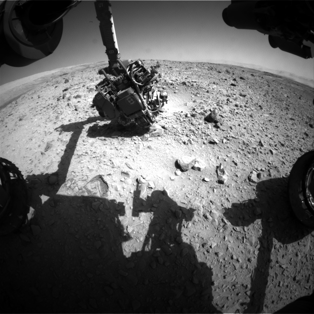 Nasa's Mars rover Curiosity acquired this image using its Front Hazard Avoidance Camera (Front Hazcam) on Sol 503, at drive 0, site number 25