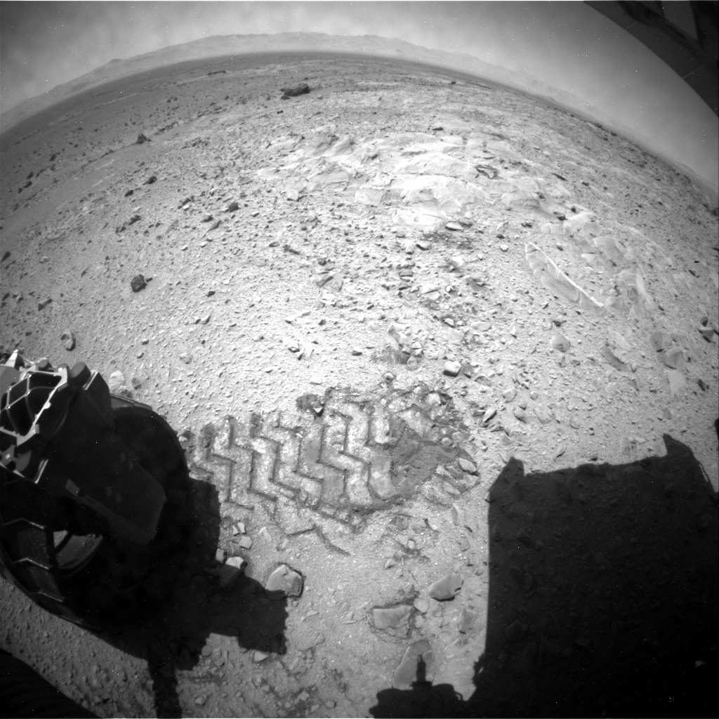NASA's Mars rover Curiosity acquired this image using its Rear Hazard Avoidance Cameras (Rear Hazcams) on Sol 503