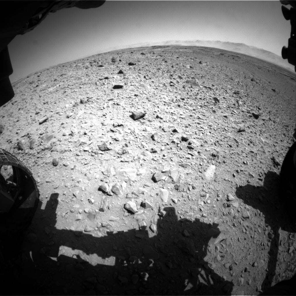 Nasa's Mars rover Curiosity acquired this image using its Front Hazard Avoidance Camera (Front Hazcam) on Sol 504, at drive 12, site number 25