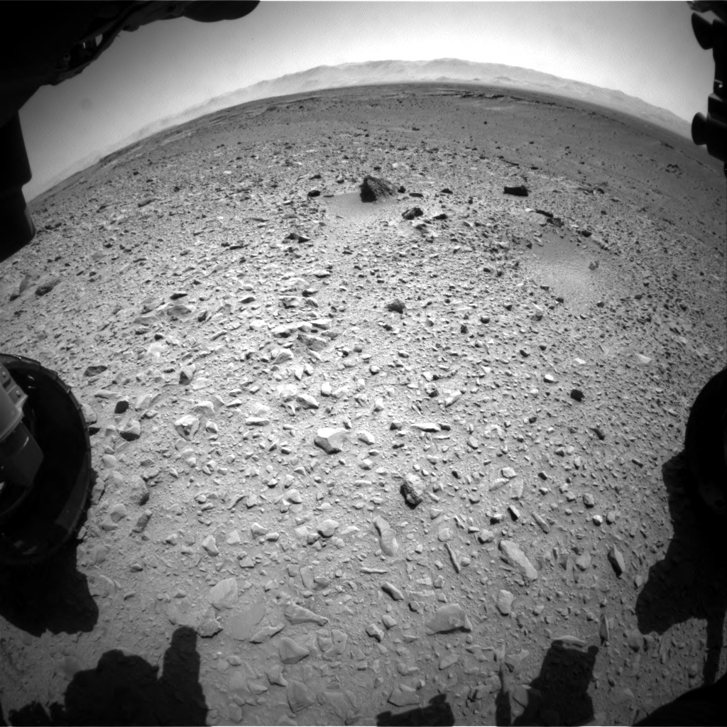 Nasa's Mars rover Curiosity acquired this image using its Front Hazard Avoidance Camera (Front Hazcam) on Sol 504, at drive 54, site number 25