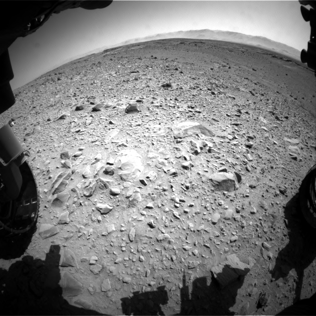 Nasa's Mars rover Curiosity acquired this image using its Front Hazard Avoidance Camera (Front Hazcam) on Sol 504, at drive 90, site number 25