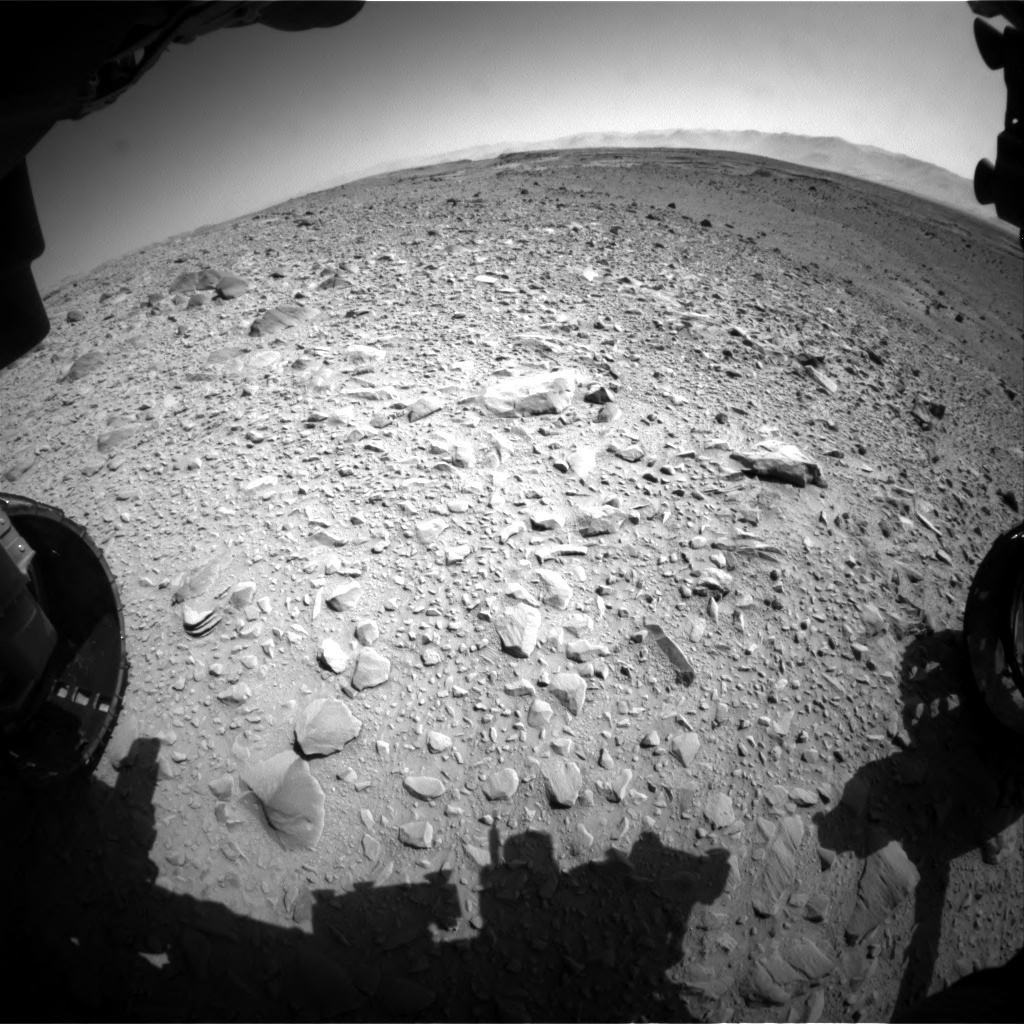 Nasa's Mars rover Curiosity acquired this image using its Front Hazard Avoidance Camera (Front Hazcam) on Sol 504, at drive 108, site number 25