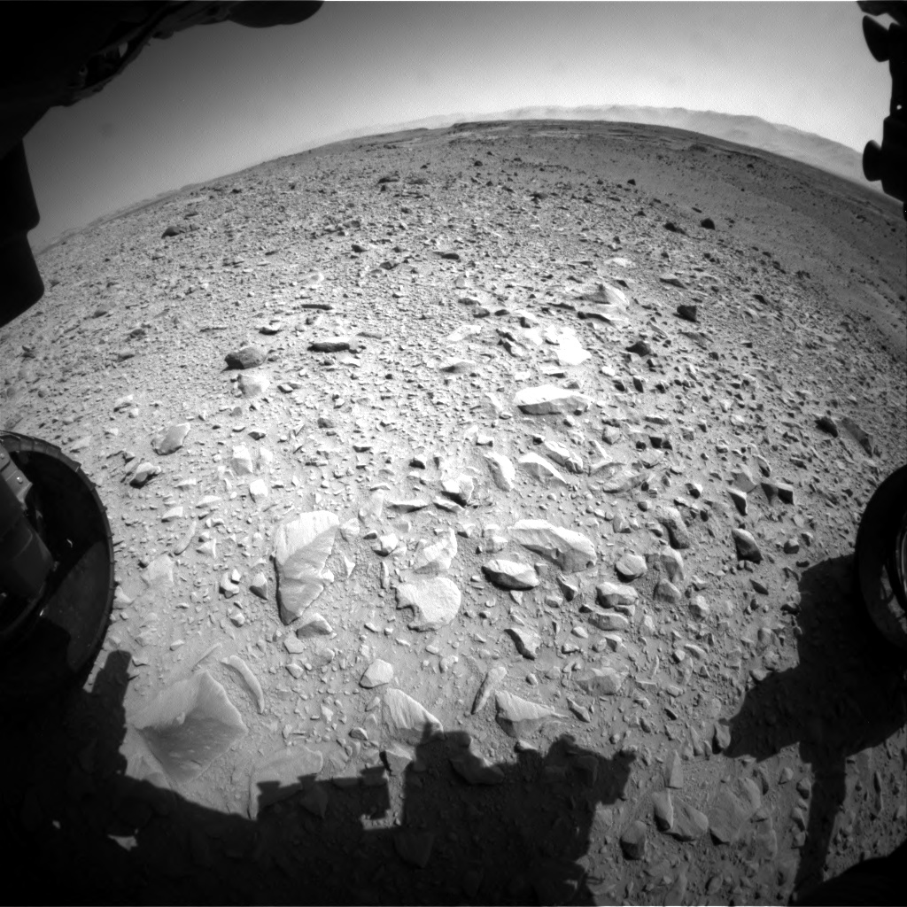 Nasa's Mars rover Curiosity acquired this image using its Front Hazard Avoidance Camera (Front Hazcam) on Sol 504, at drive 132, site number 25