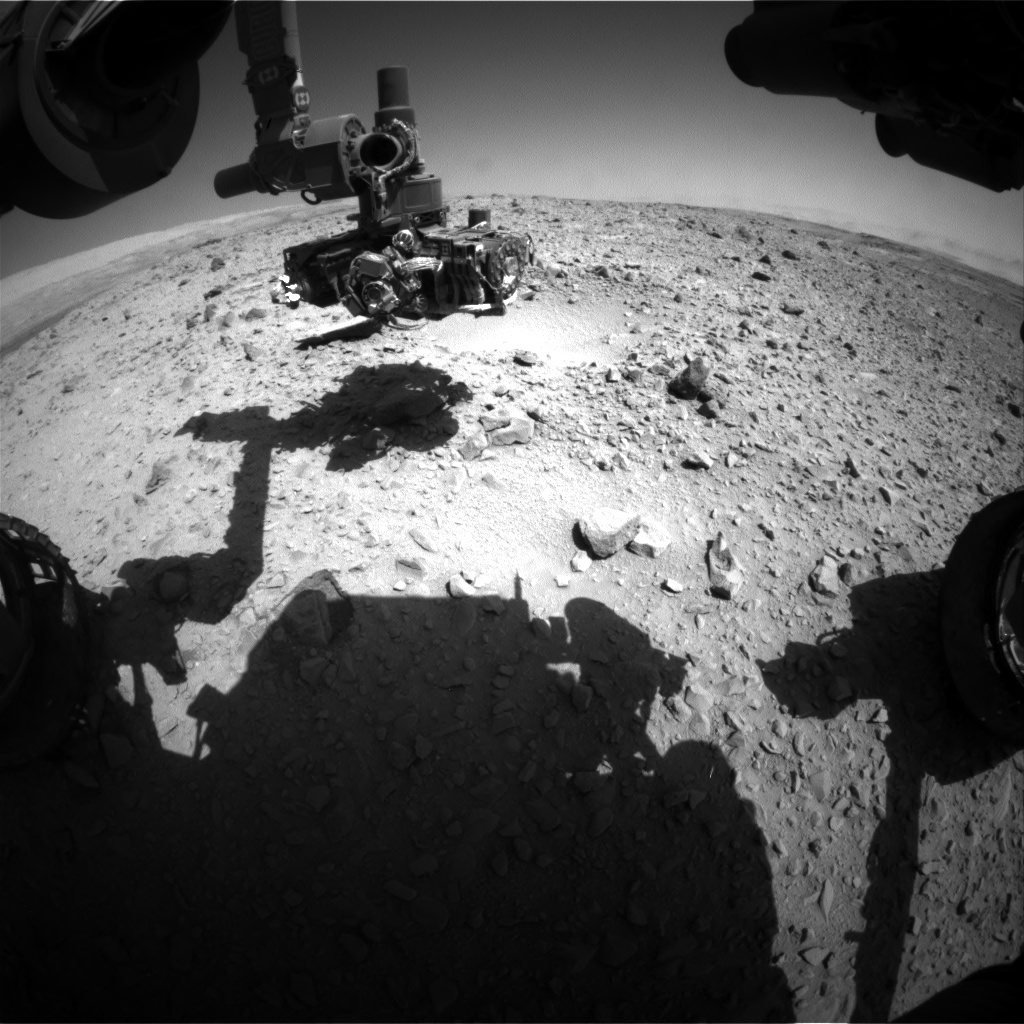 Nasa's Mars rover Curiosity acquired this image using its Front Hazard Avoidance Camera (Front Hazcam) on Sol 504, at drive 0, site number 25
