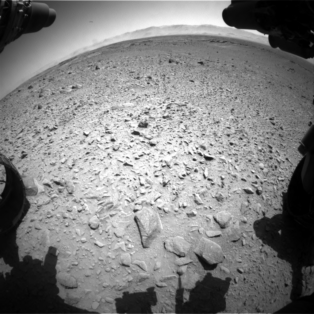 Nasa's Mars rover Curiosity acquired this image using its Front Hazard Avoidance Camera (Front Hazcam) on Sol 504, at drive 24, site number 25