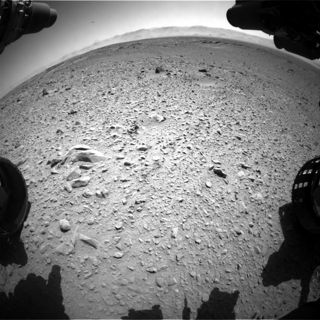 Nasa's Mars rover Curiosity acquired this image using its Front Hazard Avoidance Camera (Front Hazcam) on Sol 504, at drive 42, site number 25
