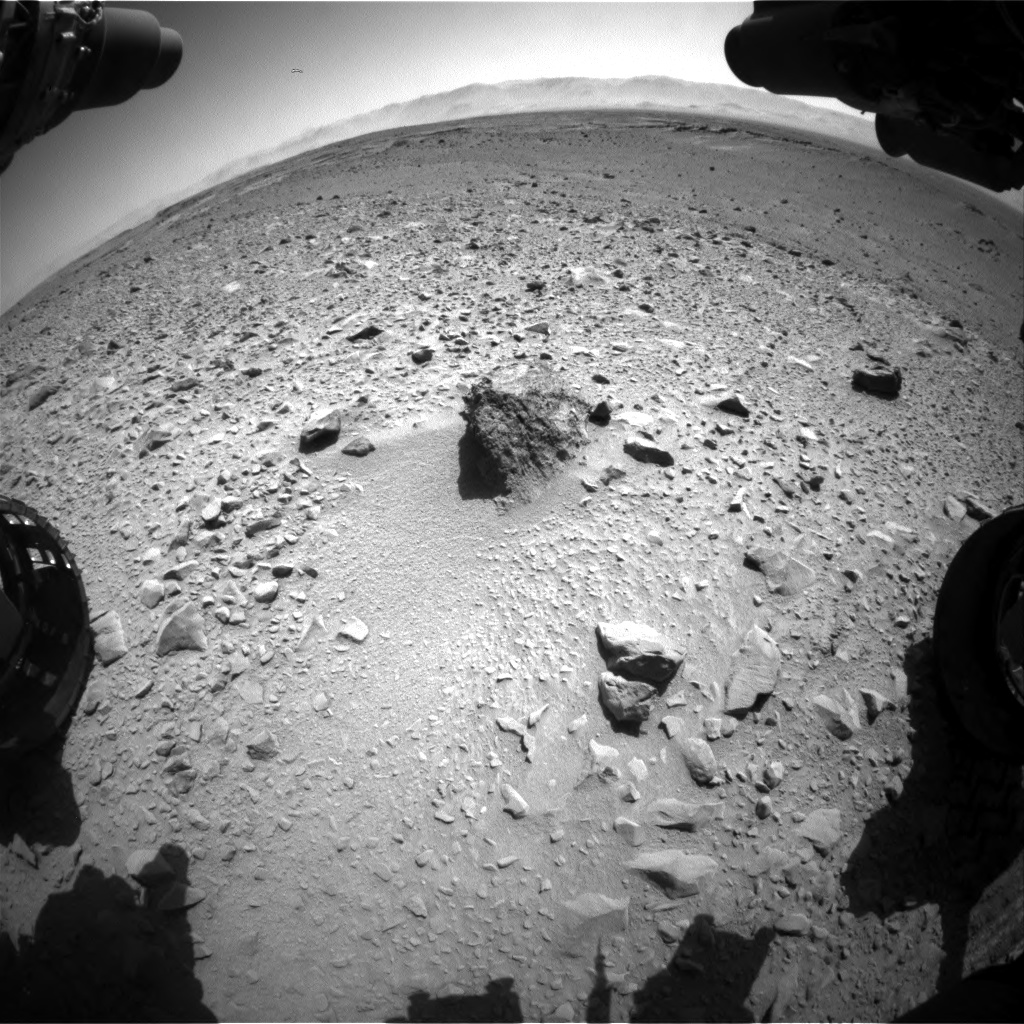 Nasa's Mars rover Curiosity acquired this image using its Front Hazard Avoidance Camera (Front Hazcam) on Sol 504, at drive 66, site number 25